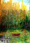 Elmadani-Artiste Peintre - Tea lake