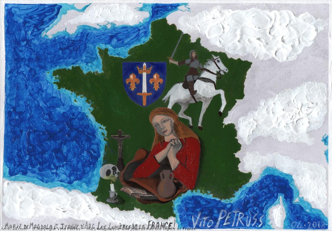 Artwork >> Vito Petrus >> Mary Magdalene and Joan of Arc the lights of France!