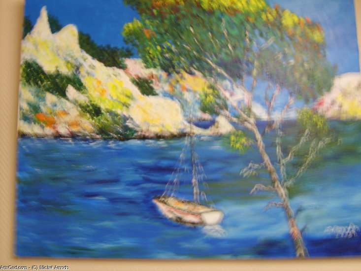 Artwork >> Michel Arnodo >> Mooring place in  The  Creeks