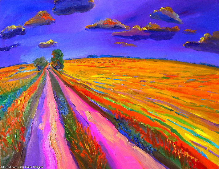 Artwork >> Klaus Steigner >> Summer Field in Nagyrev