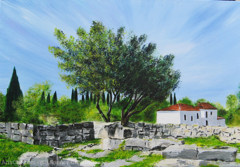 Artwork >> Sonney Christiane >> Landscape of Turkey near the Temple of Apollo (Didyma)