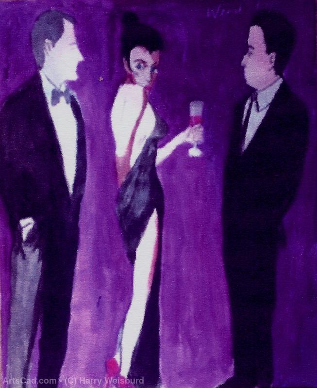 Artwork >> Harry Weisburd >> Woman In Backless Dress With A Drink