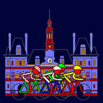 Asbjorn Lonvig - Stage 21 - Passing by the City Hall of Paris