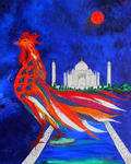 Marie-France Busset - THE ROOSTER DREAM OF TAJ MAHAL