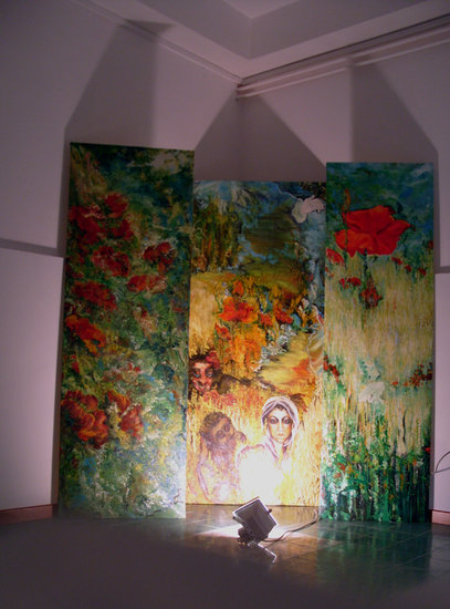 Artwork >> Dana Klein >> The Civic Museum of Ripe san Ginesio Italy - Installation
