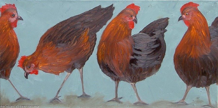 Artwork >> Sophie Moissonnier >> FRIEZE hens