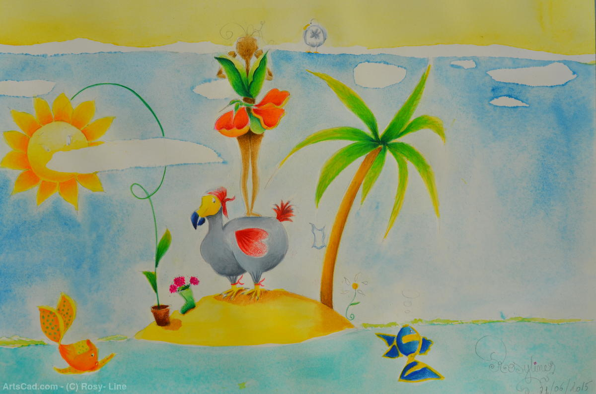 Artwork >> Rosy- Line >> On my island