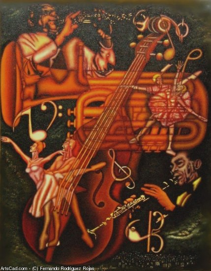 Artwork >> Fernando Rodriguez Rojas >> PLAYING JAZZ ON NEW ORLEANS