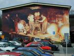 Scenic Artist And Painter - Mural At Film Studios
