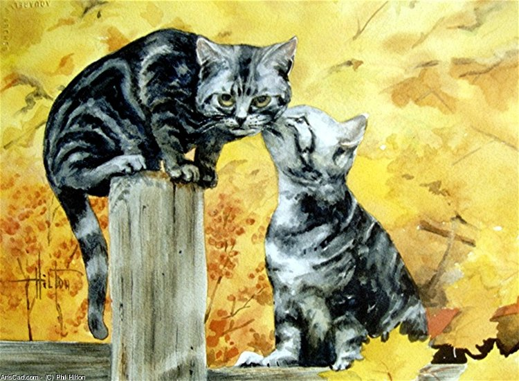 Artwork >> Phil Hilton >> Kitty Gossip