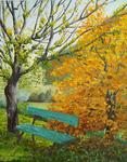 Brigitte Grange - a bench up in  fall