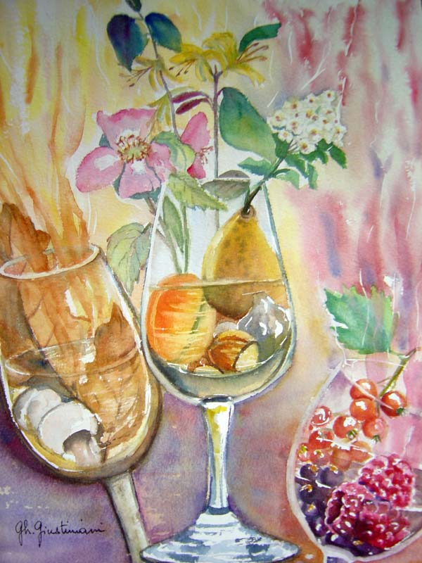 Artwork >> Ghislaine Giustiniani >> The three VERRES
