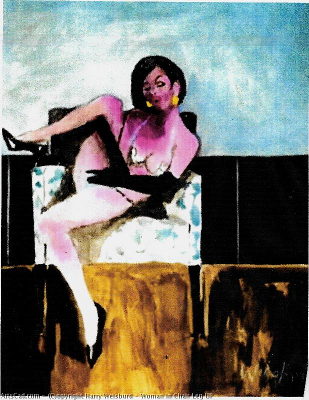 Artwork >> Harry Weisburd >> Woman In Chair Leg UP