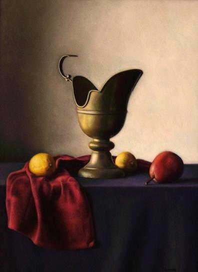Artwork >> Keith Murray >> Brass Pitcher with Fruit
