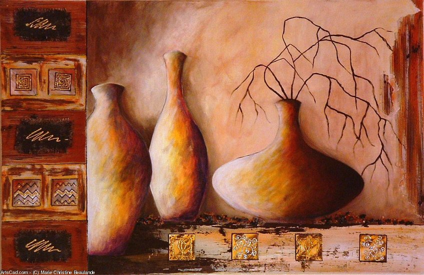 Artwork >> Marie Christine Beaulande >> The pots from  ground