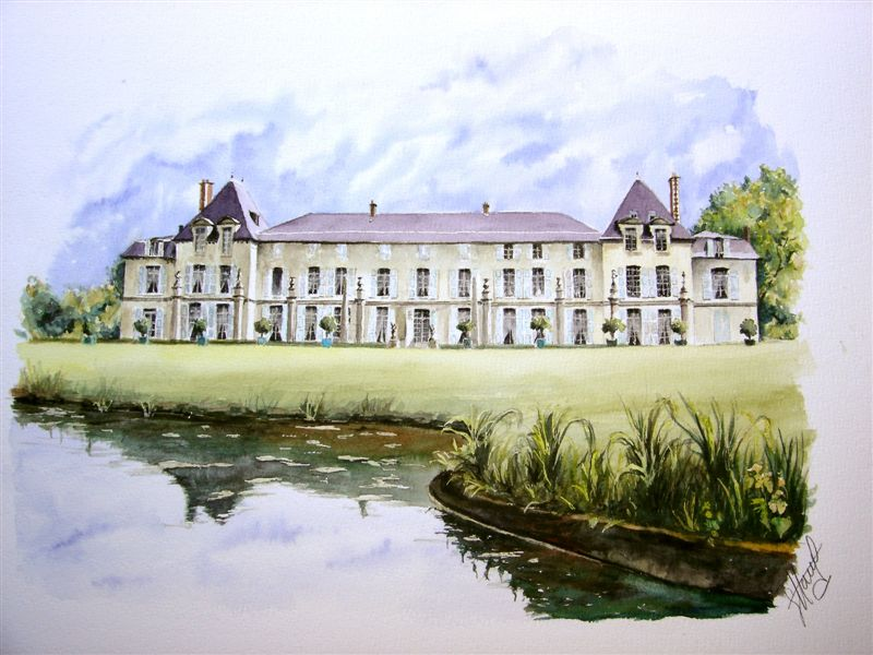 Artwork >> Hauet Gérard >> castle of Bad house