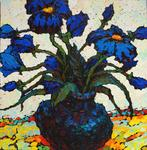 Russian Impressionism - Blue flower . Sketch .