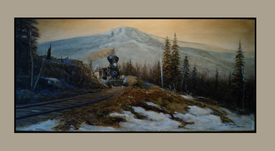 Artwork >> Denis Beaudet >> Or the train passed