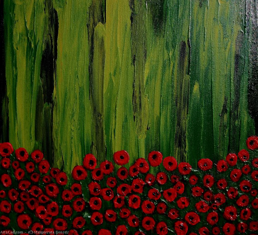 Artwork >> Malgorzata Drozdz >> Poppy seed flowers