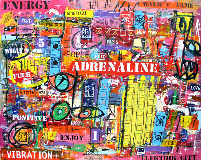 Artwork >> Mahi Art Brut >> ADRENALINE