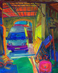 Klaus Steigner - Garage in front of graves (St.Laurent du Bois, France)