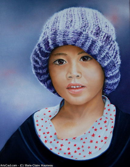 Artwork >> Marie-Claire Houmeau >> Child from BALI 2