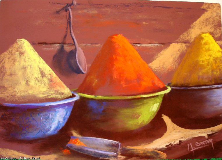 Artwork >> Breton Michel >> Spices
