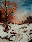 Pol Ledent - Boars at the sun setting