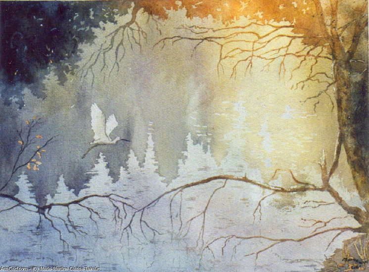Artwork >> Marie-Martine Classe-Trélaün >> The egret from  Aurora