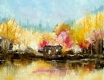 Charles Lepeintre - my hut  up in  fall