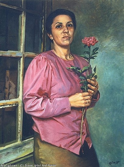 Artwork >> Scenic Artist And Painter >> Woman With A Flower