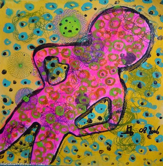Artwork >> Marie C. Cudraz >> 08-2006 - FUNKY 2 - pop art portrait AFRO - Dancin Queen