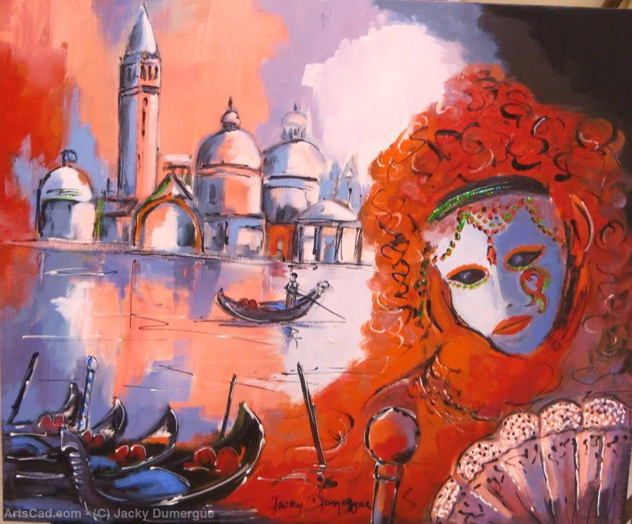 Artwork >> Jacky Dumergue >> Venice and its Carnival