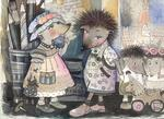 Oxana Zaika - my hedgehogs  SOLD.
