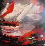 Jacky Dumergue - arrival of there  regatta