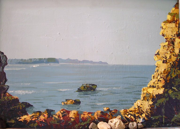 Artwork >> Carlos Roces >> Rocks at sea