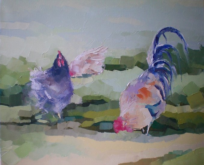 Artwork >> Ceccarelli Gisèle >> chicken up and cock