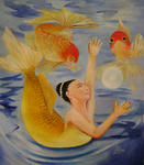 Zhenlian Art Gallery - mermaid jugglers