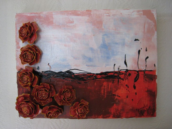 Artwork >> Francoise Amelot >> ROSES RED CEDAR