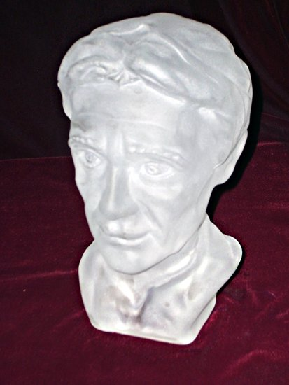 Artwork >> Bust Glass >> Portrait of the man, blown glass