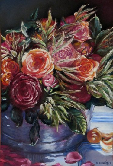 Artwork >> Cauchois Danielle >> The bucket roses