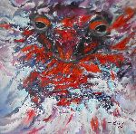 Natalya Zhdanova - original painting breathing salamander in handmade