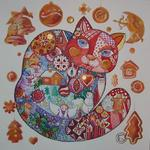 Oxana Zaika - cat from  xmas  SOLD.