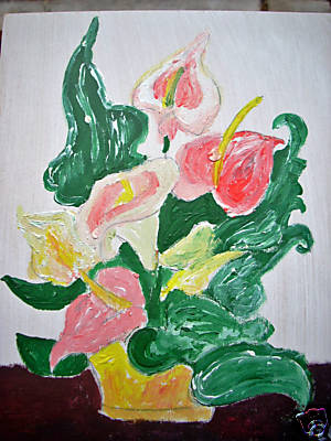 Artwork >> Marie Christine Legeay >> THE BOUQUET D'ARUMS - FLOWERS