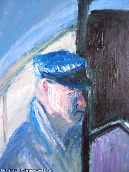 Artwork >> Impressionist Gallery >> A close up of 'The station master'