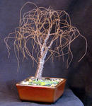 Sal Villano Wire Tree Sculpture - SMALL BONSAI ELM - Wire Tree Sculpture