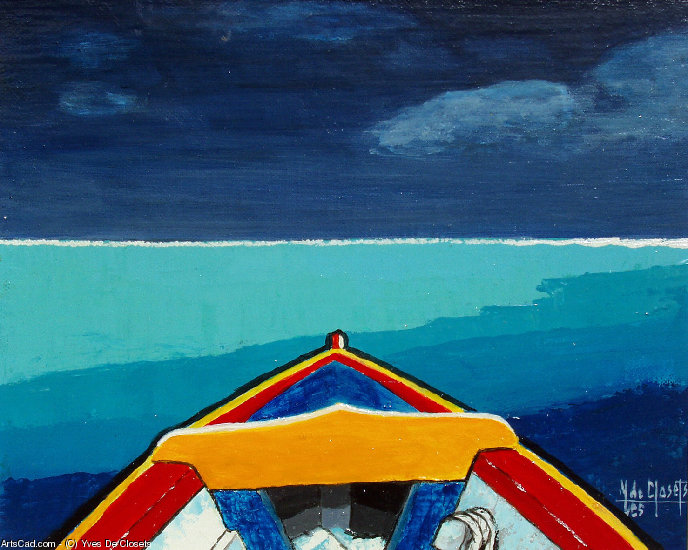 Artwork >> Yves De Closets >> la boat of lagoon