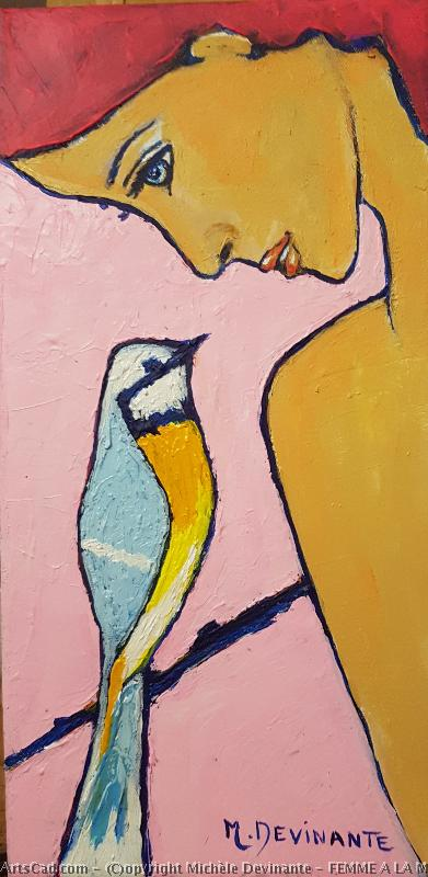 Artwork >> Michèle Devinante >> woman at there  tit