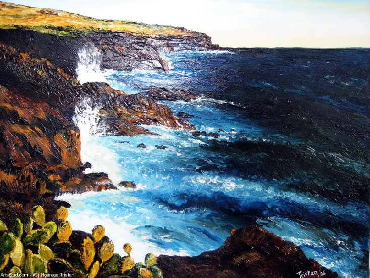 Artwork >> Hoareau Tristan >> the coast Blue