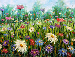 Valery Rybakow - New Flowers oil painting Wildflowers. Palette knife paintings for sale. Artist Valery Rybakow. http://www.rybakow.com/slides/flowers-oil-painting-wildflowers_304.htm Enjoy the sunny flower meadow, inhale unique aroma of wild flowers and be happy!